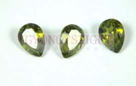 Swarovski pear- olivine -14x10mm