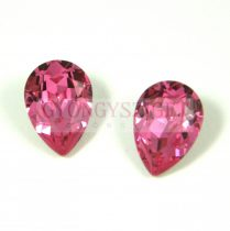 Swarovski pear- rose -14x10mm