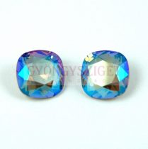 Swarovski round square - black diamond shimmer - 12mm