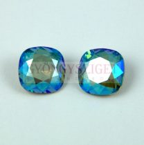 Swarovski round square - Erinite Shimmer - 10mm