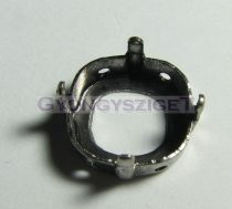 Foglalat - platina - 4470 round square-12mm