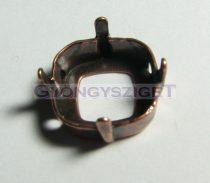 Foglalat - vörösréz - 4470 round square-12mm