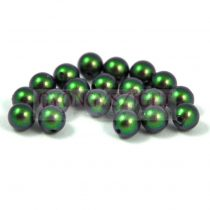 Swarovski igazgyöngy utánzat - crystal scarabeus green -6mm