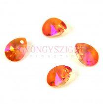 Swarovski xilion mini pear medál 12mm - Crystal Astal Pink