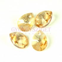 Swarovski xilion mini pear medál 12mm - Crystal Golden Shadow