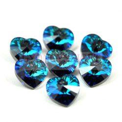 Swarovski fűzhető szív 14.4x14mm - Crystal Bermuda Blue