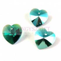 Swarovski Xilion Heart Pendant 14.4m14mm - Emerald Shimmer