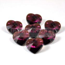 Swarovski fűzhető szív 14.4x14mm - fuchsia bronze shade