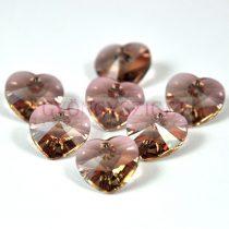 Swarovski fűzhető szív 14.4x14mm - jonquil antique pink