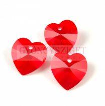 Swarovski Xilion Heart Pendant 14.4m14mm - Light Siam