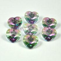 Swarovski fűzhető szív 14.4x14.0 mm - crystal paradise shine