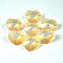Swarovski fűzhető szív 14.4x14mm - white opal golden shadow