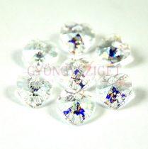Swarovski fűzhető szív 14.4x14mm - crystal white patina