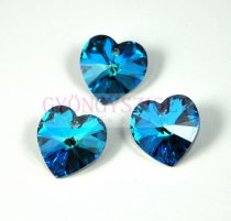 Swarovski beadable heart 18x17.5mm - crystal bermuda blue