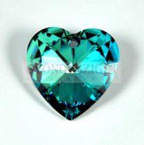 Swarovski fűzhető szív 28mm - crystal bermuda blue