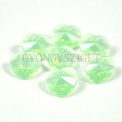 Swarovski fűzhető szív 10.3x10.0 mm - chrysolite opal