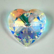 Swarovski fűzhető szív 28mm - crystal ab