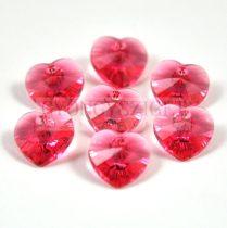 Swarovski fűzhető szív 10.3x10.0 mm - indian pink
