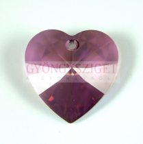 Swarovski fűzhető szív 18x17.5mm - crystal lilac shadow