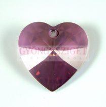 Swarovski fűzhető szív 28mm - crystal lilac shadow