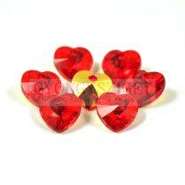 Swarovski fűzhető szív 10.3x10.0 mm - Light Siam ab