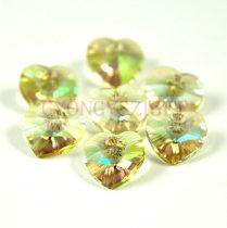 Swarovski fűzhető szív 10.3x10.0 mm - crystal luminous green