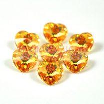 Swarovski fűzhető szív 10.3x10.0 mm - crystal metallic sunshine