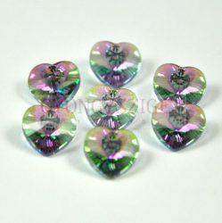 Swarovski fűzhető szív 10.3x10.0 mm - crystal paradise shine