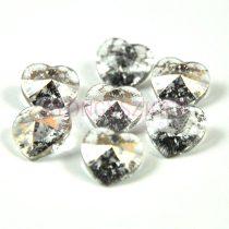 Swarovski fűzhető szív 10.3x10.0 mm - crystal rose patina