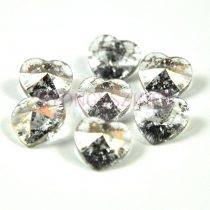 Swarovski beadable heart 10.3x10.0 mm - crystal rose patina