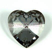 Swarovski fűzhető szív 28mm - crystal silver night