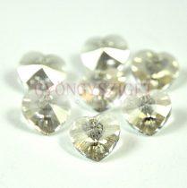 Swarovski fűzhető szív 10.3x10.0 mm - crystal silver shade