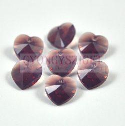 Swarovski fűzhető szív 10.3x10.0 mm - Cyclamen Opal