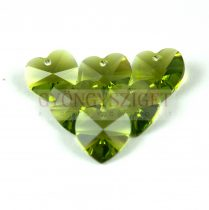 Swarovski fűzhető szív 10.3x10.0 mm - Olivine