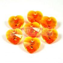 Swarovski fűzhető szív 10.3x10.0 mm - tangerine
