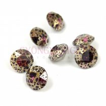 Swarovski chaton - 8mm -  Amethyst Gold Patina  - 1088