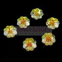 Swarovski - középen fúrt margaréta - 10mm - Crystal AB