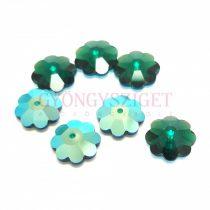 Swarovski crystal marguerite - 10mm - Emerald Shimmer