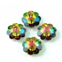 Swarovski középen fúrt virág - 14mm - Crystal Vitrail Medium