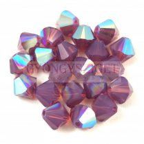 Swarovski bicone 6mm - Cyclamen Opal Shimmer