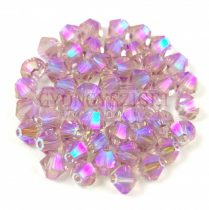 Swarovski bicone 4mm - Light Amethyst Shimmer 2x