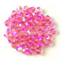 Swarovski bicone 3mm - Light Rose Shimmer 2x