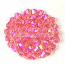 Swarovski bicone 4mm - Rose Peach Shimmer 2x