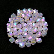 Swarovski bicone 4mm - Rose Water Opal Shimmer 2x