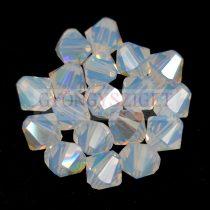 Swarovski bicone 6mm - White Opal Shimmer