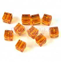 Swarovski - 5601- Cube gyöngy - Topaz - 8mm