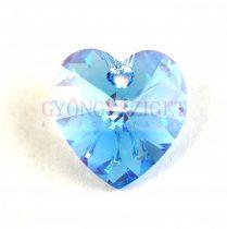 Swarovski fűzhető szív 18 x 17.5 mm - Aquamarine AB