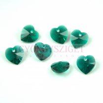 Swarovski fűzhető szív - 10.3x10.0mm - Emerald