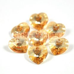 Swarovski fűzhető szív - 10.3x10.0 mm - Crystal Golden Shadow