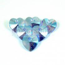 Swarovski beadable heart 10.3x10.0 mm - Light Sapphire Shimmer